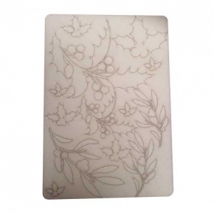 That's Crafty! Surfaces Bits and Pieces Greyboard Sheet - Holly and Mistletoe