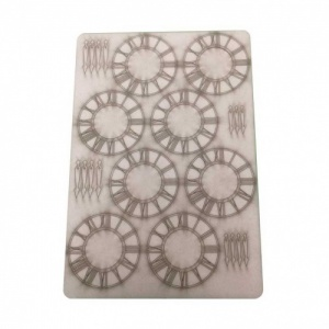 That's Crafty! Surfaces Bits and Pieces Greyboard Sheet - Small Clocks