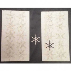 That's Crafty! Surfaces Greyboard Snowflakes - Pack of 20