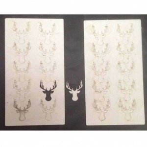 That's Crafty! Surfaces Greyboard Stags Head - Pack of 20
