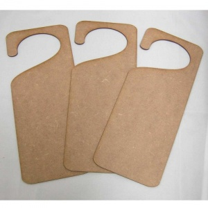 That's Crafty! Surfaces MDF Door Hangers - Style 2 - Pack of 3