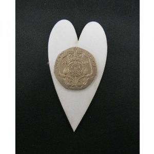 That's Crafty! Surfaces White/Greyboard Hearts - Pack of 12 - #1