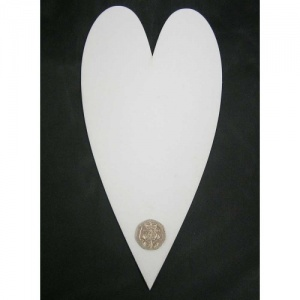 That's Crafty! Surfaces White/Greyboard Hearts - Pack of 6 - #10