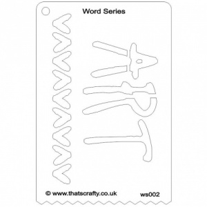 That's Crafty! Word Series Stencil - Art - WS002