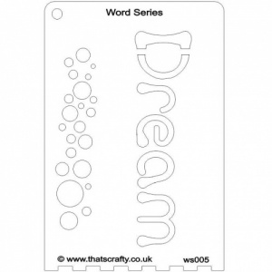 That's Crafty! Word Series Stencil - Dream - WS005