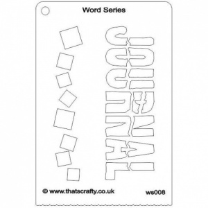 That's Crafty! Word Series Stencil - Journal - WS008