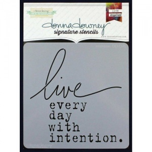 Donna Downey Signature Series Stencil - Intention - DD076