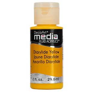 Znalezione obrazy dla zapytania DecoArt Media Diarylide Yellow