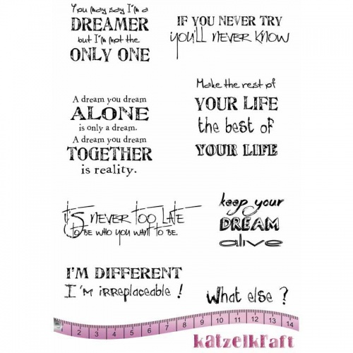 Image result for Katzelkraft Unmounted Rubber Stamp Set - Dreamer - KTZ169