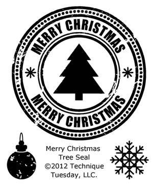 Technique Tuesday Clear Stamp Set - Merry Christmas Tree Seal ...