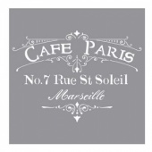 DecoArt Americana Decor Stencil - Cafe Paris