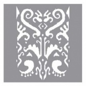 DecoArt Americana Decor Stencil - Indian Ikat