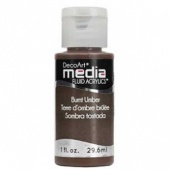 DecoArt Media Fluid Acrylic Paint - Burnt Umber