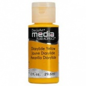 DecoArt Media Fluid Acrylic Paint - Diarylide Yellow