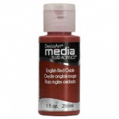 DecoArt Media Fluid Acrylic Paint - English Red Oxide
