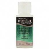 DecoArt Media Fluid Acrylic Paint - Green Interference