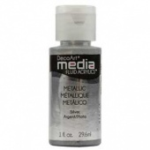 DecoArt Media Fluid Acrylic Paint - Metallic Silver