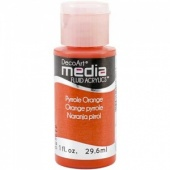 DecoArt Media Fluid Acrylic Paint - Pyrrole Orange