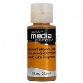DecoArt Media Fluid Acrylic Paint - Transparent Yellow Iron Oxide