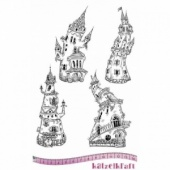 Katzelkraft Unmounted Rubber Stamp Set - Les Chateaux - KTZ172