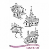 Katzelkraft Unmounted Rubber Stamp Set - Les Maisons - KTZ173