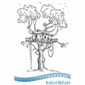 Katzelkraft Unmounted Rubber Stamp - Tree House - KTZ167