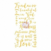 Prima Marketing Christine Adolph Adhesive Rub-Ons - Kindness Words