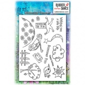Rubber Dance Unmounted Stamp Set - Whimsical Summer