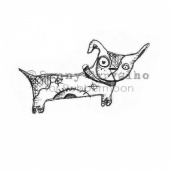 Rubber Moon - Sunny Carvalho - Cling Mounted Stamp - Bow Wow