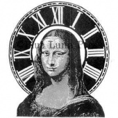 Rubber Moon - Ma Vinci - Cling Mounted Stamp - Mona Donna Numeric