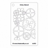 That's Crafty! Dinky Stencil - Cogs Background - TC050