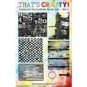 That's Crafty! Clear Stamp Set - Textures Collection - Set 4
