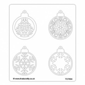 That's Crafty! 6.5ins x 7.5ins Stencil - Baubles - TC7004