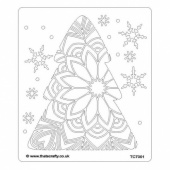 That's Crafty! 6.5ins x 7.5ins Stencil - Poinsettia Tree - TC7001