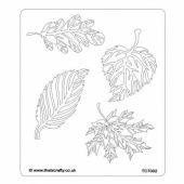 That's Crafty! 6.5ins x 7.5ins Stencil - Skeleton Leaves - TC7002