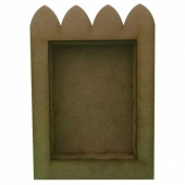 That's Crafty! Surfaces Dinky Art Shrine - Scallop Top - Pack of 3