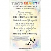 That's Crafty! Clear Stamp Set - Lynne's Affirmations - Set 2