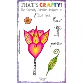 That's Crafty! Clear Stamp Set - The Serenity Collection - Fleur