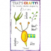 That's Crafty! Clear Stamp Set - The Serenity Collection - Treena