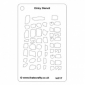 That's Crafty! Dinky Stencil - Abstract Stones Background - TC017