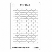 That's Crafty! Dinky Stencil - Brick Repeat Background - TC001