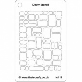That's Crafty! Dinky Stencil - Cobblestones - TC111