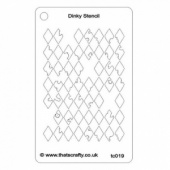 That's Crafty! Dinky Stencil - Distressed Harlequin Background - TC019