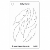 That's Crafty! Dinky Stencil - Feathers - TC045