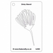 That's Crafty! Dinky Stencil - Fleur - TC080