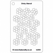 That's Crafty! Dinky Stencil - Flowers - TC093