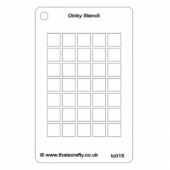 That's Crafty! Dinky Stencil - Grid Background - TC015