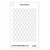 That's Crafty! Dinky Stencil - Harlequin Background - TC020