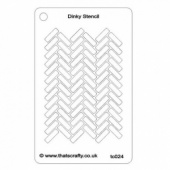 That's Crafty! Dinky Stencil - Herringbone Background - TC024