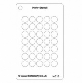 That's Crafty! Dinky Stencil - Large Circles Background - TC018
